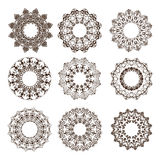 The circular ornaments mandala Vintage with floral elements Stock Photo
