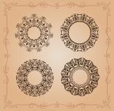 A circular ornaments o vintage da mandala ilustração do vetor