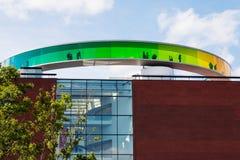 Circular panoramic roof of the Aarhus art museum Stock Image