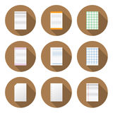Circular Paper Icon for Design and Creative Work Royalty Free Stock Photo