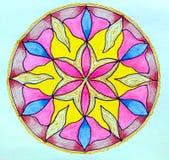 Circular patterned drawing. Royalty Free Stock Photography