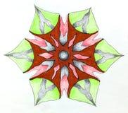 Circular patterned drawing. Royalty Free Stock Photo