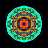 Circular pattern Africa. African landscape circular pattern, vector illustration Royalty Free Illustration