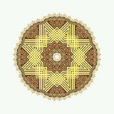 Circular pattern in arabic style Royalty Free Stock Photo