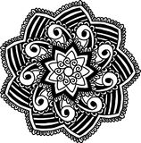 Circular pattern for coloring. Decorative round ornament for coloring mandala Stock Photo
