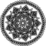 Circular pattern for coloring. Decorative round ornament for coloring mandala Royalty Free Stock Photography