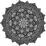 Circular pattern for coloring. Decorative round ornament for coloring mandala Royalty Free Stock Photos