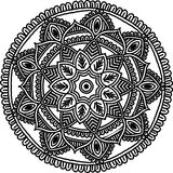 Circular pattern for coloring. Decorative round ornament for coloring mandala Stock Photos
