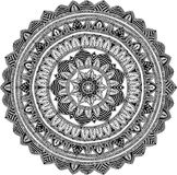 Circular pattern for coloring. Decorative round ornament for coloring mandala Stock Images