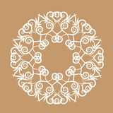 A circular pattern. The complex decorative pattern with floral elements vector illustration