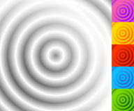 Circular pattern with concentric circles. Faded overlapping circle shapes, abstract ripple effect. Royalty free vector illustration vector illustration