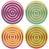 Circular pattern with concentric circles. Faded overlapping circle shapes, abstract ripple effect. Royalty free vector illustration royalty free illustration