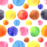 Circular pattern of a different watercolor stains Stock Photo