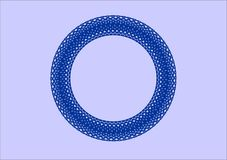 Circular pattern of the edge of blue. Circular pattern of blue on a light background. A pattern for example for a plate Royalty Free Stock Photos