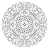 Circular pattern in ethnic style. Royalty Free Stock Photo