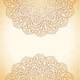Circular pattern of flowers background Stock Photography