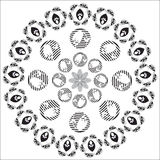 Circular pattern of flowers Royalty Free Stock Photos