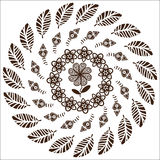 Circular pattern of flowers Royalty Free Stock Image