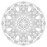 Circular pattern in the form of the mandala.Coloring page.Vector mandala with abstract elements on white background.Design element vector illustration