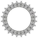 Circular pattern in form of mandala for henna. Mehndi royalty free illustration