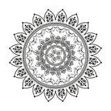 Circular pattern in form of mandala for henna. Mehndi stock illustration