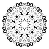 Circular pattern in form of mandala for Henna, Mehndi, tattoo, decoration. Decorative ornament in ethnic oriental style. Coloring vector illustration