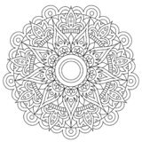 Circular pattern in form of mandala for Henna, Mehndi, tattoo, decoration. Decorative ornament in ethnic oriental style. Flower vector illustration
