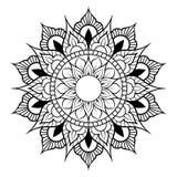 Circular pattern in form of mandala for Henna, Mehndi, tattoo, decoration. Decorative ornament in ethnic oriental style. Flower vector illustration