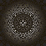 Circular pattern fractal graphic carpet with a gradient gray Stock Photography