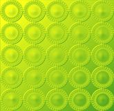 Circular pattern - glowing yellowish green. Image of glowing embossed circular pattern in yellowish green Royalty Free Illustration