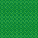 Circular pattern ireland clover, irish shamrock Royalty Free Stock Image
