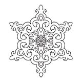 Circular pattern. Islamic ethnic ornament for pottery, tiles, textiles, tattoos Stock Photo