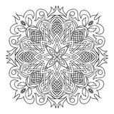 Circular pattern. Islamic ethnic ornament for pottery, tiles, textiles, tattoos Royalty Free Stock Photo