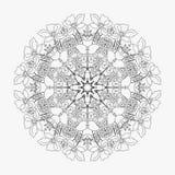 Circular pattern looped flowers 2 Stock Photo