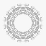 Circular pattern looped flowers 3.  royalty free illustration
