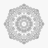 Circular pattern looped flowers 4 Stock Images