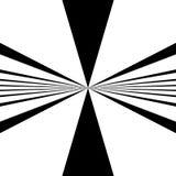 Circular pattern of radial, radiating lines. Monochrome starburs Royalty Free Stock Photo