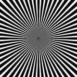 Circular pattern of radial, radiating lines. Monochrome starburs Royalty Free Stock Photography