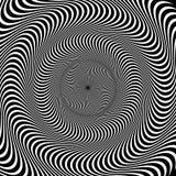 Circular pattern of radial, radiating lines. Monochrome starburs Stock Photos