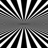 Circular pattern of radial, radiating lines. Monochrome starburs Royalty Free Stock Photos
