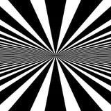Circular pattern of radial, radiating lines. Monochrome starburs Stock Image