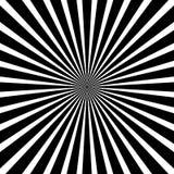 Circular pattern of radial, radiating lines. Monochrome starburs Royalty Free Stock Images