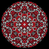 Circular pattern red white color vector Royalty Free Stock Image