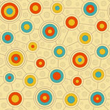 Circular Pattern in Retro Colors Royalty Free Stock Images