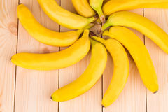 Circular pattern of ripe bananas. Royalty Free Stock Image