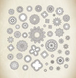 Circular pattern of traditional motifs and ancient oriental ornaments. Royalty Free Stock Photography