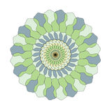 A circular pattern in yellow, green and blue colors Stock Photography