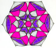 Circular patterned  drawing. Stock Images