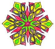 Circular patterned  drawing. Royalty Free Stock Photos