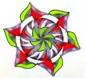 Circular patterned  drawing. Stock Image
